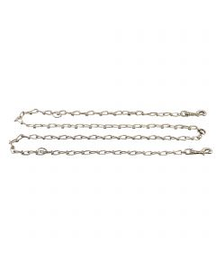 Halter-Chain - Steel nickel-plated, 3.4 mm / 98""