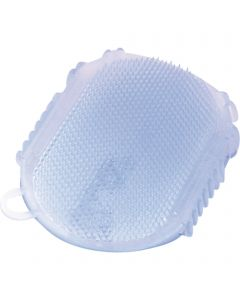 Gel-Massage glove - plastic, pastel blue