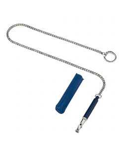 Soundless Training Whistle with plastic cover, sleeve & chain