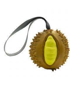"Dog toy FRUIT CHALLENGE - ""Durian"", orange-yellow (L)"