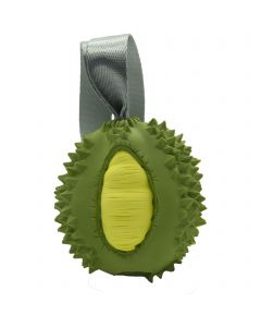 """Dog toy FRUIT CHALLENGE - """"Durian"""", green-yellow (M)"""