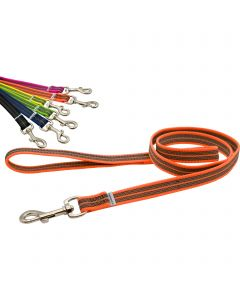 Rubberized leash, with handle