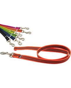 Rubberized leash without handle