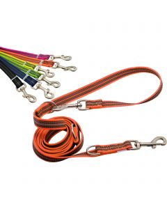 Rubberized leash, 3-times adjustable