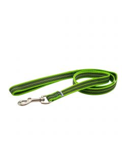 Rubberized leash with handle - green, 120 cm / 4 ft