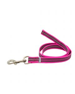 Rubberized leash without handle - pink, 100 cm / 3 ft