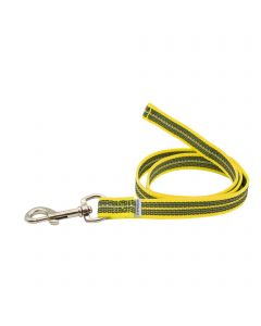 Rubberized leash without handle - yellow, 100 cm / 3 ft