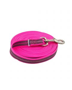 Rubberized tracking-leash without handle - pink, 10 m / 33 ft