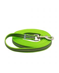 Rubberized leash without handle - green, 500 cm / 16,5 ft
