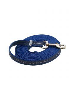 Gummierte Leine ohne Handschlaufe - blau, 500 cm