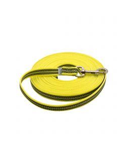 Gummierte Leine ohne Handschlaufe - gelb, 500 cm