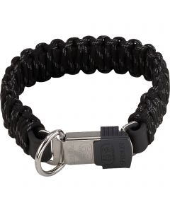 PARACORD Collar - reflecting, black