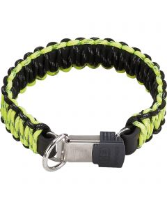 PARACORD Collar - reflecting, yellow