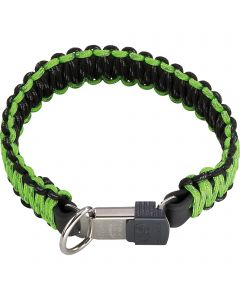 PARACORD Collar - reflecting, green