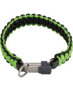 PARACORD Collar - reflecting, green