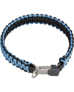 PARACORD Collar - reflecting, light blue