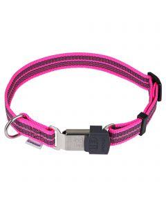 Verstellbares Halsband - reflektierend, pink