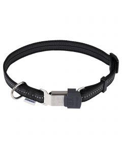 Verstellbares Halsband - reflektierend, schwarz