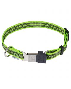 Adjustable Collar - reflecting, green