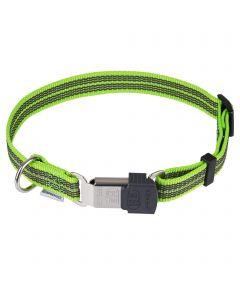 Verstellbares Halsband - reflektierend, grün