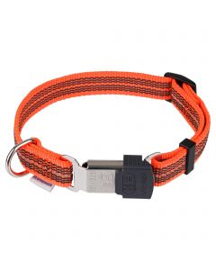 Verstellbares Halsband - reflektierend, orange