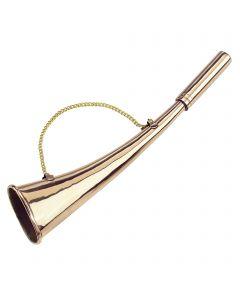 "Signal Horn - brass polished, 27 cm / 11"""