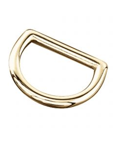 D-Ring - Messing poliert