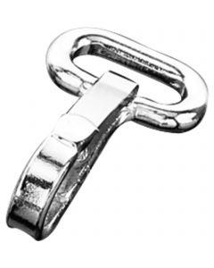 Snap hook - Steel nickel-plated, 50 mm