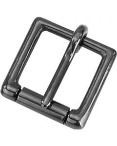 Buckle with roller - Stainless steel black