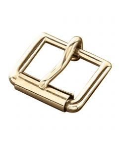 Buckle with roller - brass polished