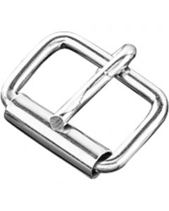 Buckle with roller - Steel nickel-plated