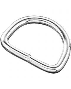 D-Ring - Stahl vernickelt