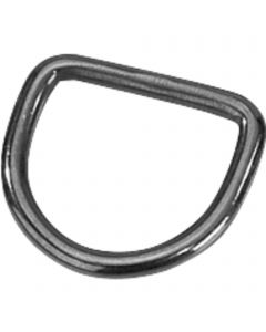 D-Ring - Stainless steel black
