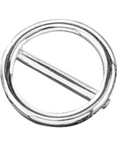 Ring mit Steg - Stahl vernickelt